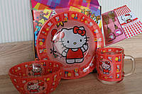 Красивый подарок для девочки набор посуды Хелло Китти