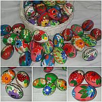 Деревянное яйцо с ручной росписью - писанка, выс. 6-7 см., 25/20 (цена за 1 шт. + 5 гр.), фото 1