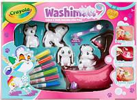Набор с фигурками животных и фломастерами Рисуй и смывай (4 фигурки), Washimals, Crayola