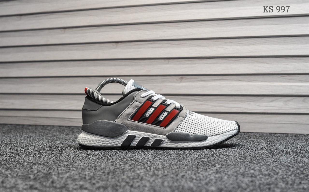 Мужские кроссовки Adidas Equipment (серо/красные)