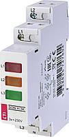 Трифазний індикатор наявності напруги SON H-3K (3-х кольоровий) ETI