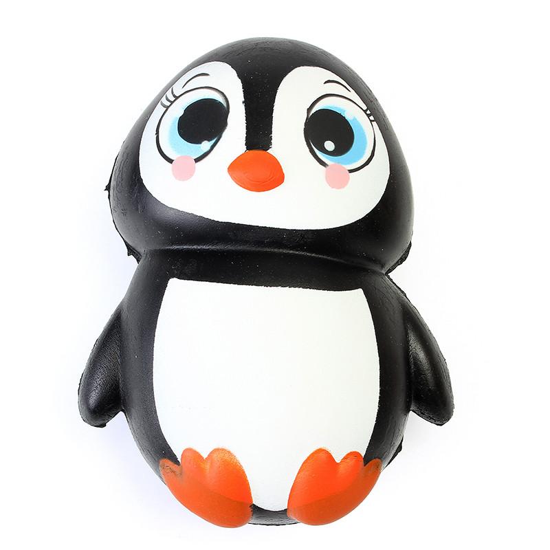 Squishy Penguin Jumbo 13cm Медленно растущий мягкий Kawaii Симпатичный коллекция подарочной декорации для коллекции игрушек - 1TopShop