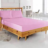 Двоспальне трикотажна простирадло на гумці 160х200+25 см, всі кольори, фото 1