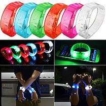 LED Велоспорт Спорт выживание свет голосовой активации браслет запястье мигалка - 1TopShop, фото 2
