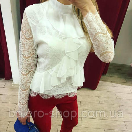 Блуза женская белое кружево, фото 2