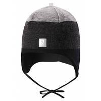 Зимние детские шерстяные шапки Reima Auva, серая
