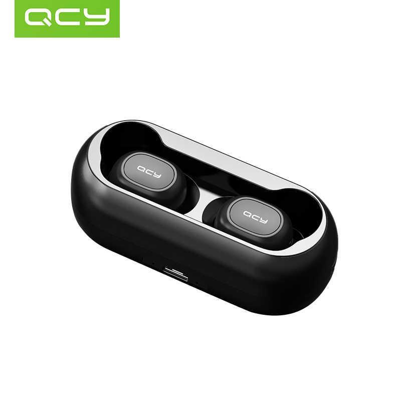 QCY T1 5,0 Bluetooth наушники 3D стерео беспроводные наушники с двойным микрофоном