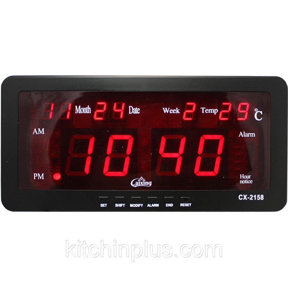 Настольный электроный часы с температуром VST-2158 (40 шт/ящ)