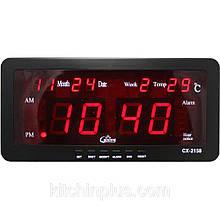 Настільний электроный годинник з температуром VST-2158 (40 шт/ящ)