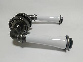 Ручка Fimet 1028P-261 F45 Tasha ант железо/белый фарфор