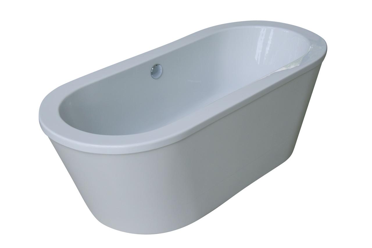 Ванная отдельностоящая акриловая VOLLE 178 × 81 × 60 с сифоном