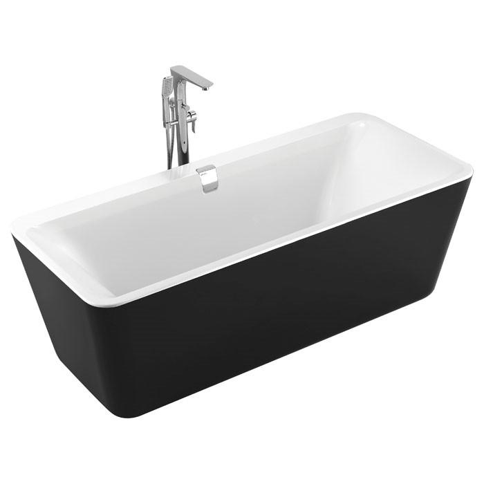 Ванная отдельностоящая акриловая Volle 180 × 80 × 62 черная