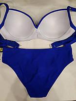 Купальник Поясок 5197 синий на 52 54 56 58 60 размеры, фото 3