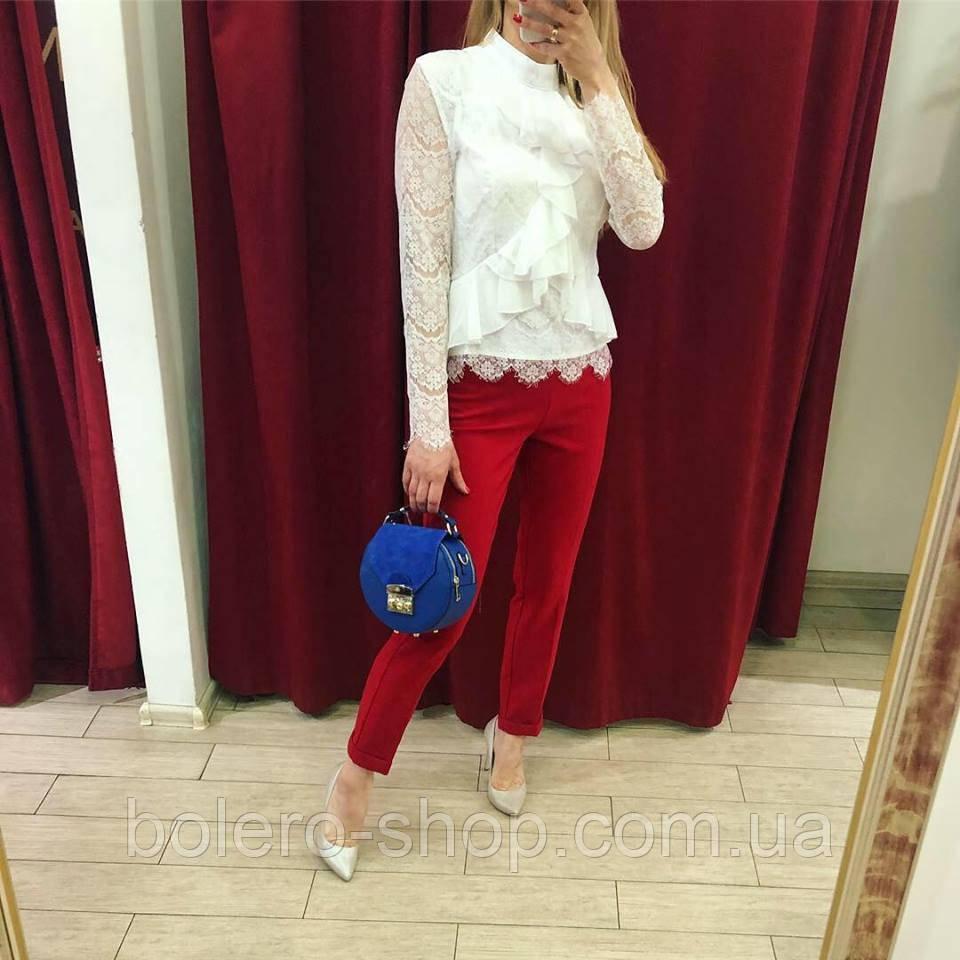 Женские штаны брюки красные