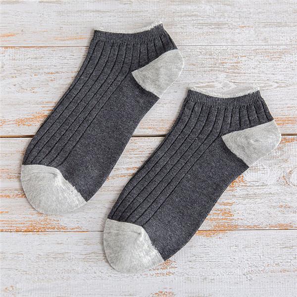 Mens Cotton Stripe Patchwork Невидимый Носки На открытом воздухе Спорт Нет Шоу Лодка Liner Тапки Тапки Носки - 1TopShop