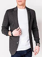 Мужской Пиджак мужской кежуал P73 - темно - серый 48, Graphite