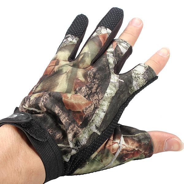 3 порезанный палец анти-скольжения перчатки камуфляж охота рыбалка доказательство воды - 1TopShop