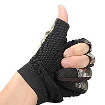 3 порезанный палец анти-скольжения перчатки камуфляж охота рыбалка доказательство воды - 1TopShop, фото 2