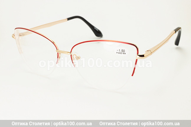 Женские очки для зрения с диоптриями (+/-). Металлическая оправа