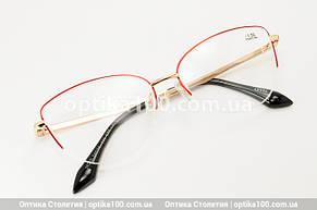 Женские очки для зрения с диоптриями (+/-). Металлическая оправа, фото 2
