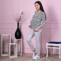 Брюки для беременных Prada - стальные