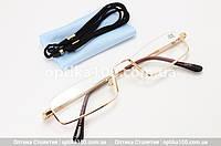 Узкие очки половинки для чтения с диоптриями