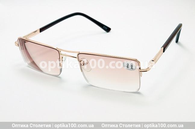 Тонированные мужские очки -2,5 для зрения с диоптриями