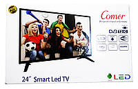 "LCD LED Телевизор Comer 24"" Smart TV+WiFi+T2, HDMI, Android 0970816242, фото 8"
