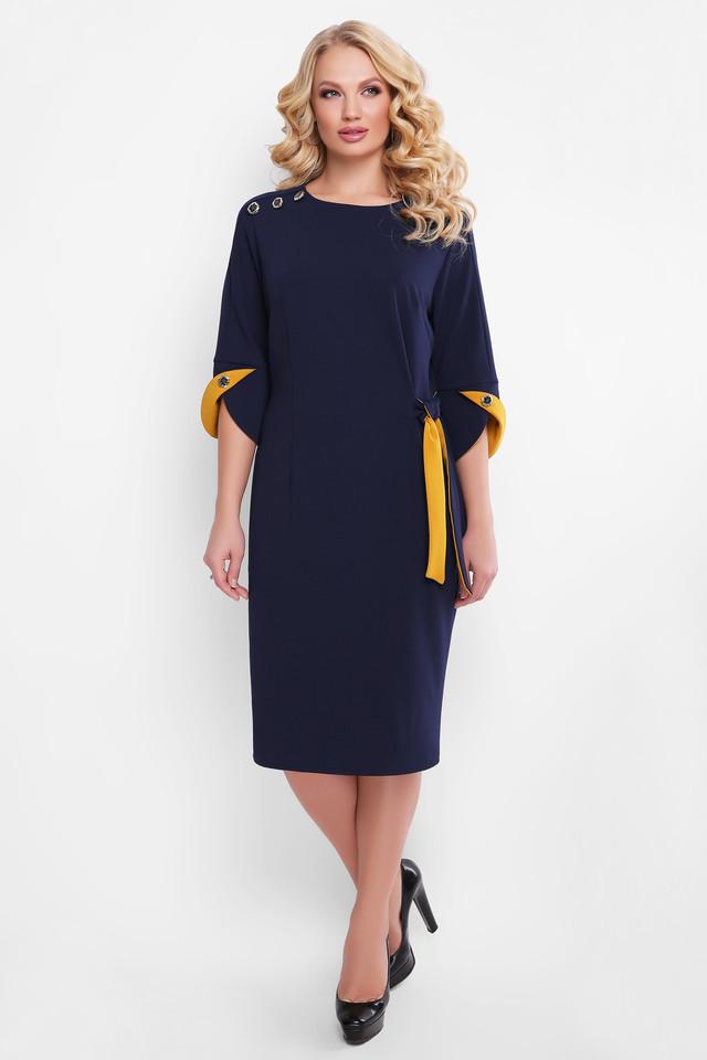 Повседневное повседневное платье Джулия синее