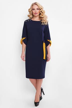 Повседневное повседневное платье Джулия синее, фото 2
