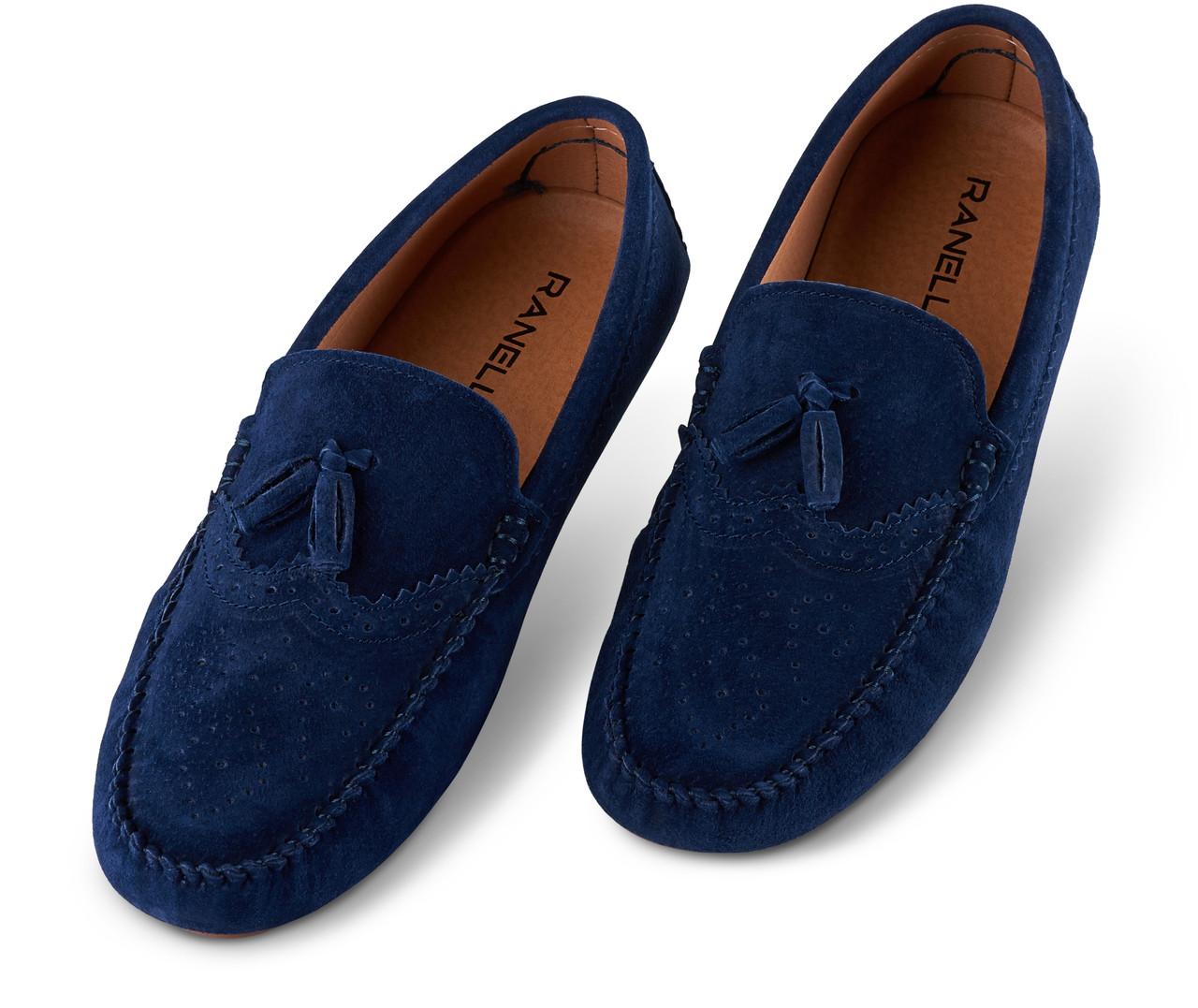 Мокасини чоловічі Ranelli 801740 темно-сині