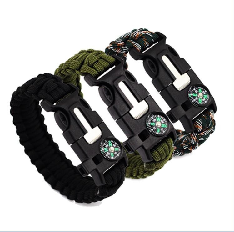 IPRee®4В1браслетдля выживания в реальном времени EDC Emergency Paracord Umbrella Веревка Compass Набор - 1TopShop
