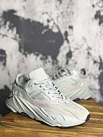 Кроссовки Adidas X Kanye West yeezy 700 v2 Salt Triple white with black Белые с черным
