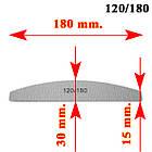 Пилка для Ногтей Лодка Серая 120/180 для Ногтей Двухсторонняя Упаковкой в 50 шт., фото 3