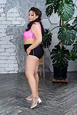 Триколірний злитий купальник для повних Дана, фото 2