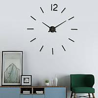 Настенные часы 3D 004В / диаметр 50-90см / Чёрные