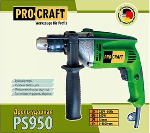 Дриль Ударний Procraft 950