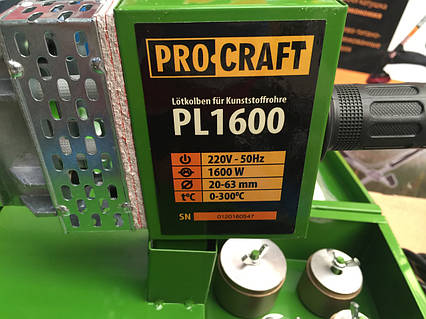 Паяльник Для Поліпропіленової Труби Procraft PL 1600 20-63