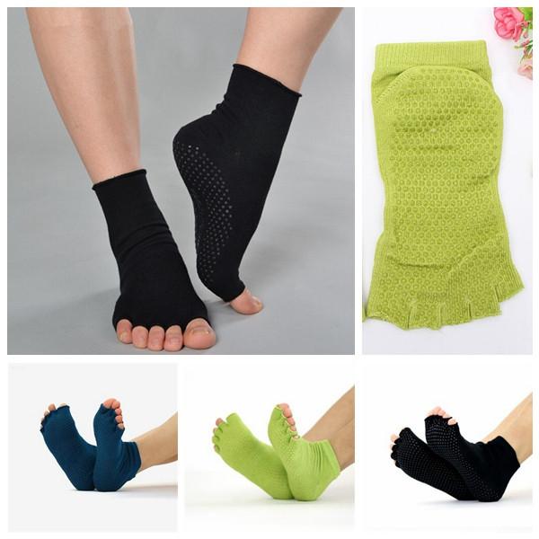 Yoga Носки Хлопок спортивные упражнения пилатес Массаж носок - 1TopShop