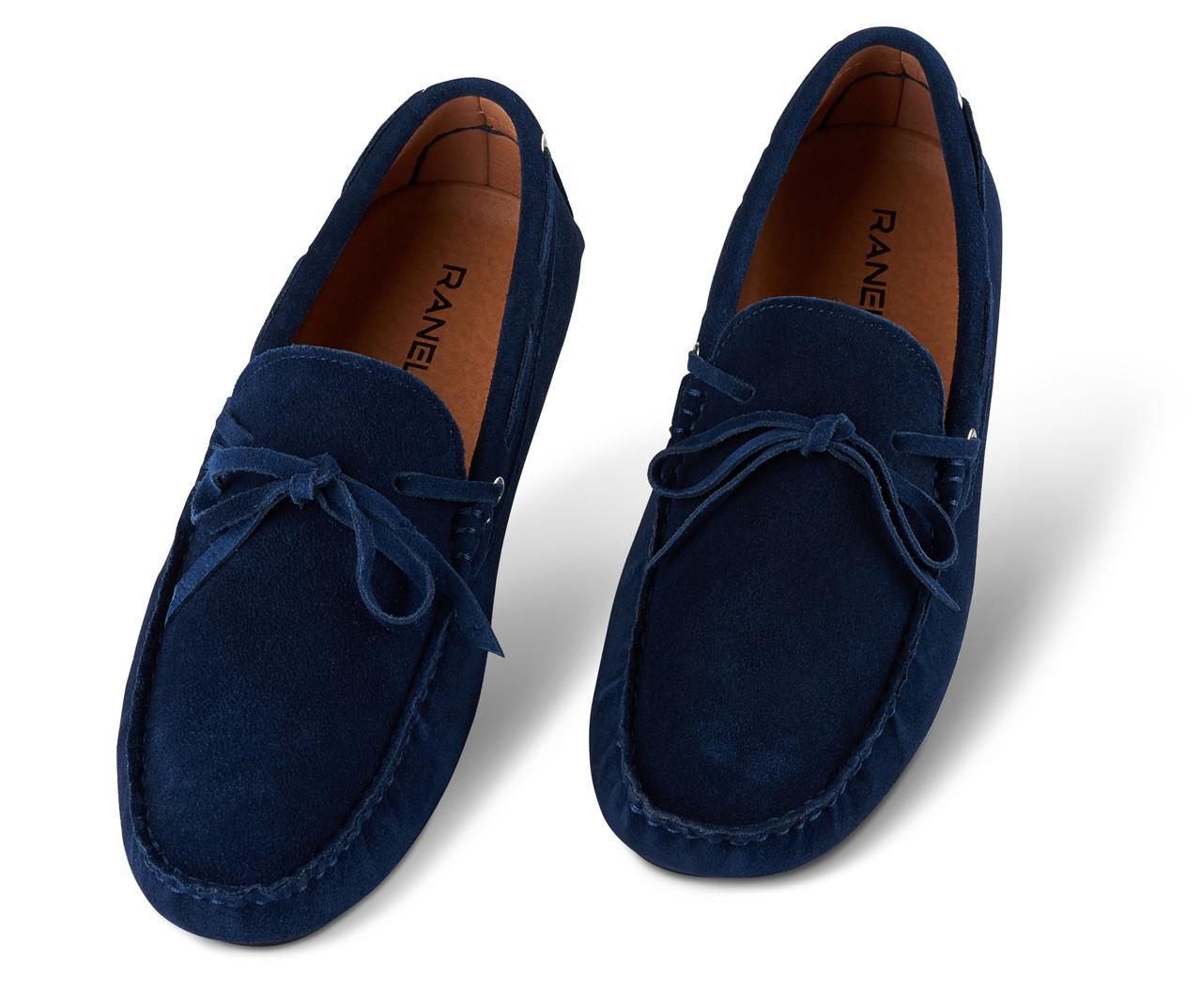 Мокасины мужские Ranelli 801340 темно-синие