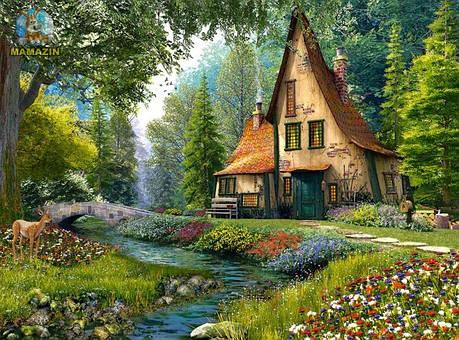 Пазлы Коттедж в лесу на 2000 элементов, фото 2