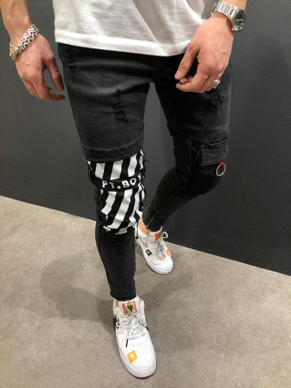 Мужские джинсы зауженные темно-серые PT. BOY