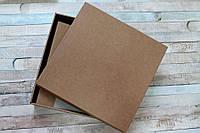 Заготовка для альбома в коробке из крафтового картона, Белая, 20Х20 СМ