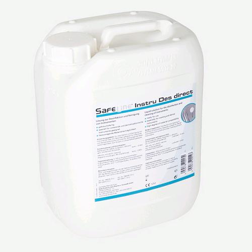 """Ampri SAFELINE """"Instru Des Direkt"""" - средство для дезинфекции инструментов и поверхностей, 10 шт по 5000 мл"""