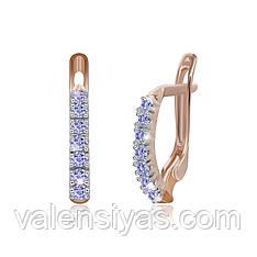 Серебряные серьги женские с фианитами СК3ФС/020