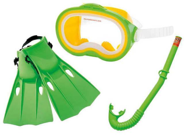 Ласты для плавания Intex 55937 M Спорт Зеленый (int55937-2), фото 2