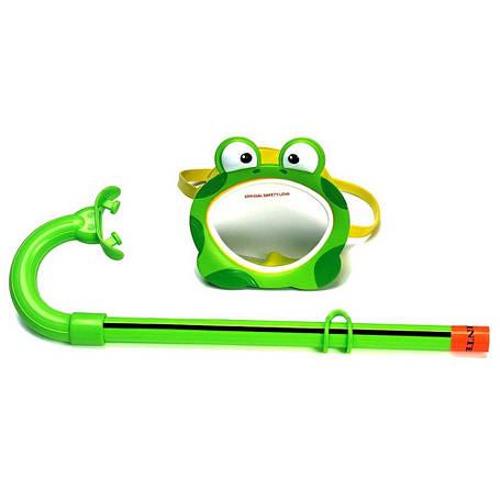 Маска для плавания Intex 55910 Лягушка гипоалергенная Зеленый (int55910-1), фото 2