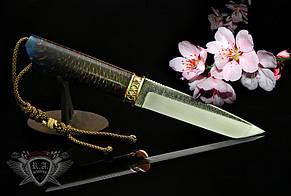 "Нож ""Цветок сакуры"" 140х30х4мм с ручкой из полимера с шишкой"
