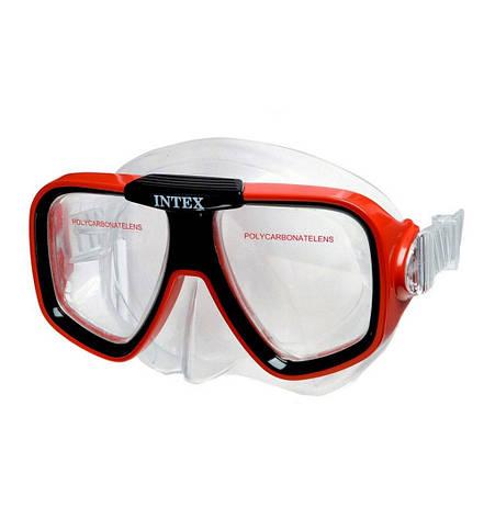 Маска для плавания Спорт Intex 55974 гипоаллергенная Красная (int55974-1), фото 2