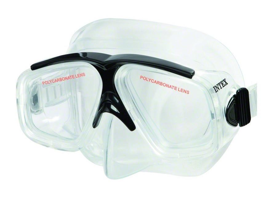 Маска для плавания Спорт Intex 55975 гипоаллергенная Черная (int55975-2)